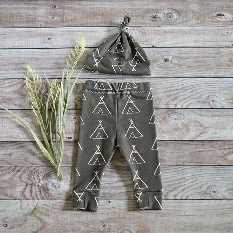 Black Teepee Newborn Leggings & Hat Set. Find your inner Indian & let your child run wild in a pair of these! Pair me with a printed top and your baby or toddler will be styling! Support handmade boutiques and purchase from Nora Gray! A small town Indiana boutique located in Berne, IN. We specialize in small makers across the USA.