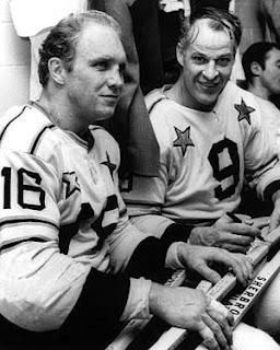 Bobby Hull and Gordie Howe
