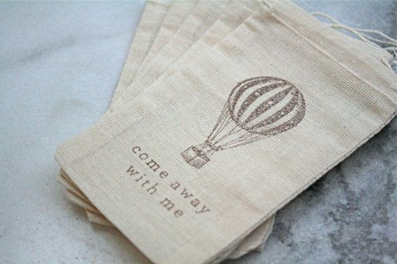 Favor bags muslin 3x5 Set of 50  Vintage hot by CraftyClementines, $50.00