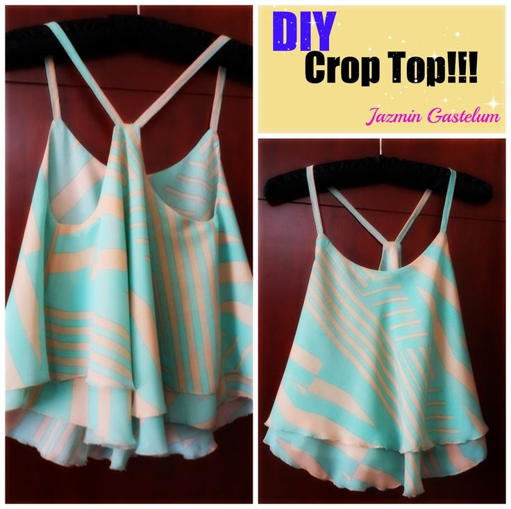 DIY How To Make A Crop Top -- Como Hacer Un Crop Top