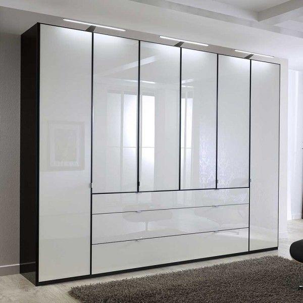 Schlafzimmerschrank Ruamantico In Weiss Glas Schwarz 300 Cm Schlafzimmer Schrank Schrank Schrank Regale
