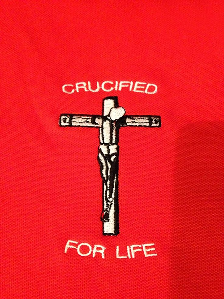 Crucified Skinhead Embroidered Polo Shirts