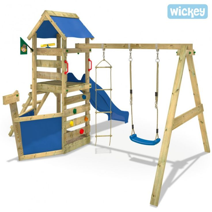 New Wooden climbing frame Waveflyer looks like a little ship