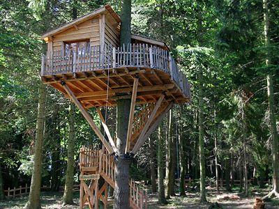 visite des cabanes perch es dans les arbres cabanes de labrousse en ard che tree houses. Black Bedroom Furniture Sets. Home Design Ideas