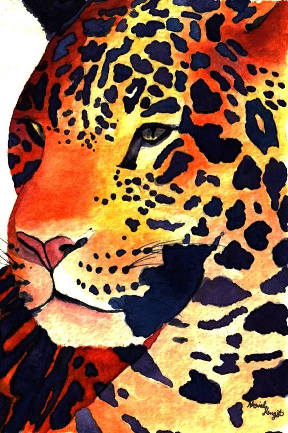 """""""Jaguar"""" By Moriah Hengst Watercolor"""