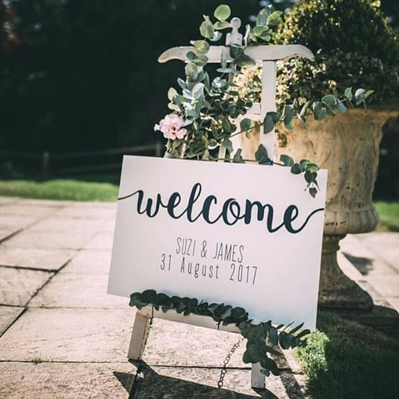 Welcome Sign hand painted