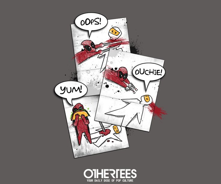 """""""Wade's Sketchbook"""" by Dr Simon Butler T-shirts, Tank Tops, V-necks, Sweatshirts and Hoodies are on sale until March 10th at www.OtherTees.com #tshirt #othertees #clothing #popculture #deadpool #marvel #comics"""