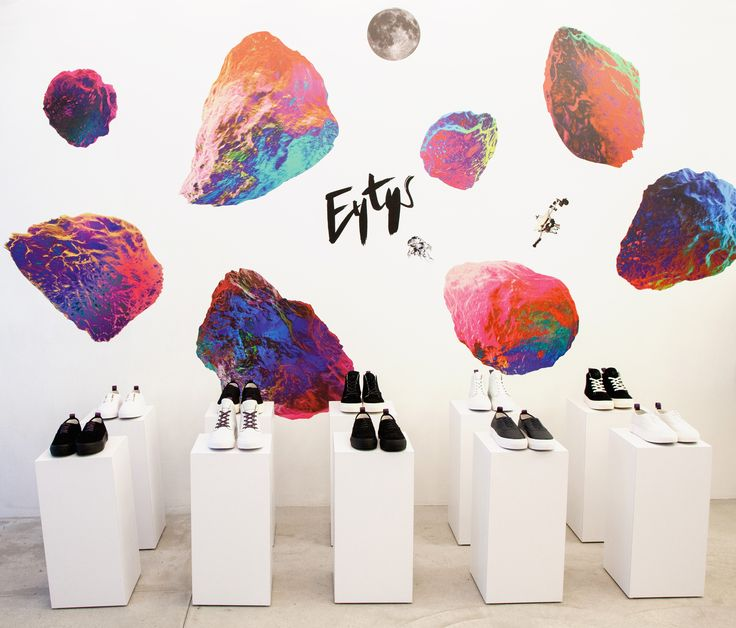 #Eytys installation at Opening Ceremony in New York, Fall/Winter 2014. Artworks by Tom Sewell.