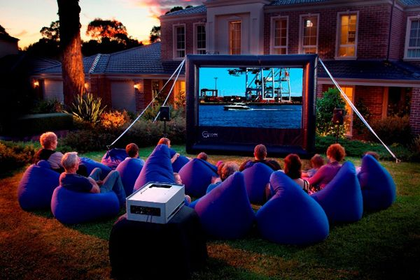 outdoor-cinema-ideas - BYO bean bag!