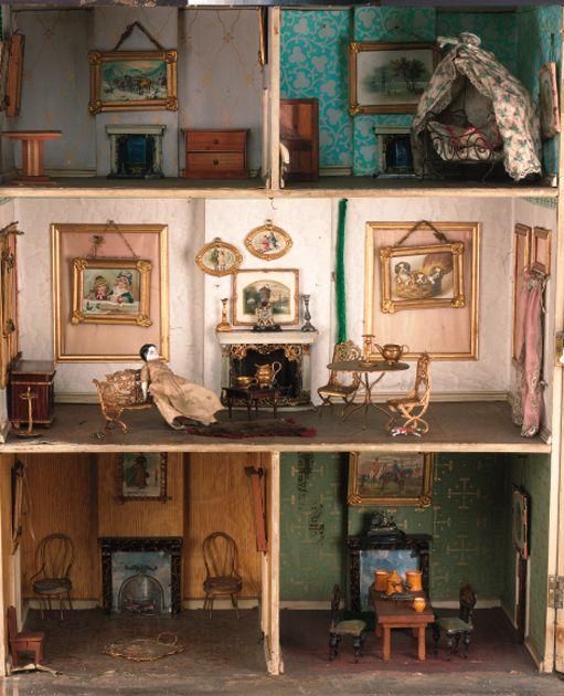 1875 British Dolls House Interior (Christies)
