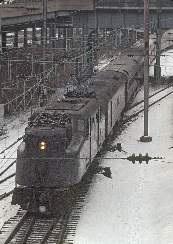 Train 84, the Silver Meteor, at 30th Street Station, Philadelphia, PA on January 28, 1977.