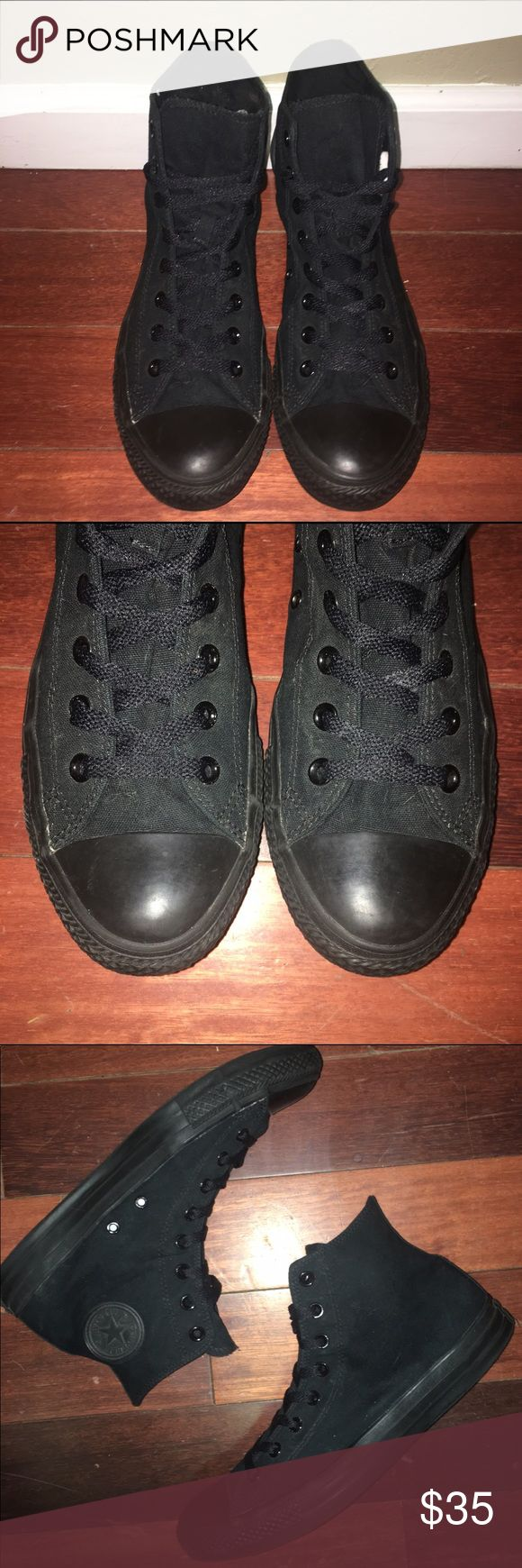 FLASH SALE Converse Chuck Taylor M-10 W-12 Converse Chuck Taylor All Star High Tops Men's 10, Women's 12 Worn Once and in Excellent Preowned Condition as shown in photos. Converse Shoes Sneakers