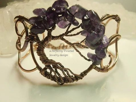 Beaded Cuff Bracelet Made to Order Tree of by PerfectlyTwisted