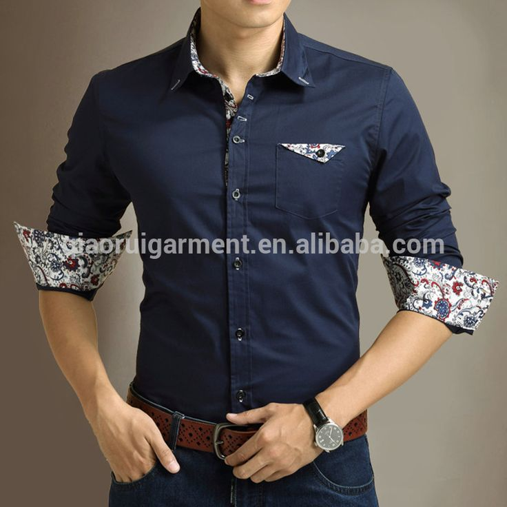 para hombre de moda slim fit de manga larga de negocios de camisas de vestir-Camisas para Hombre-Identificación del producto:300004165508-spanish.alibaba.com