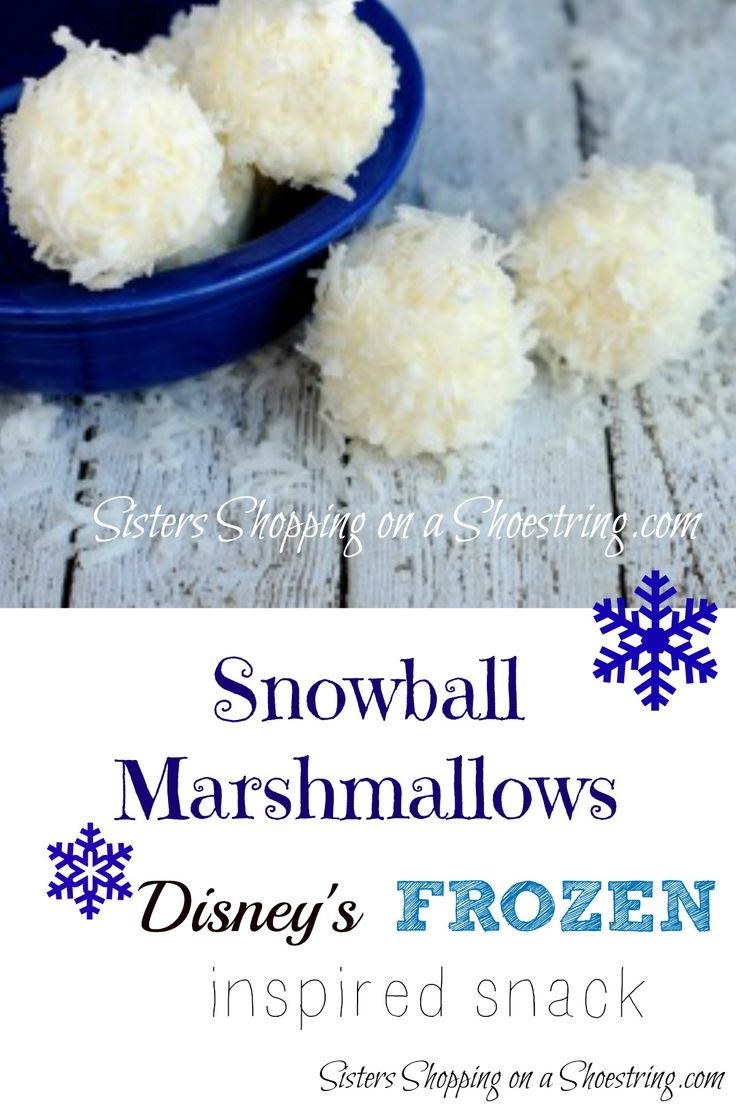 Snowball Recipe: perfect winter snack or great for your Frozen Themed Birthday Party! Sisters Shopping on a Shoestring
