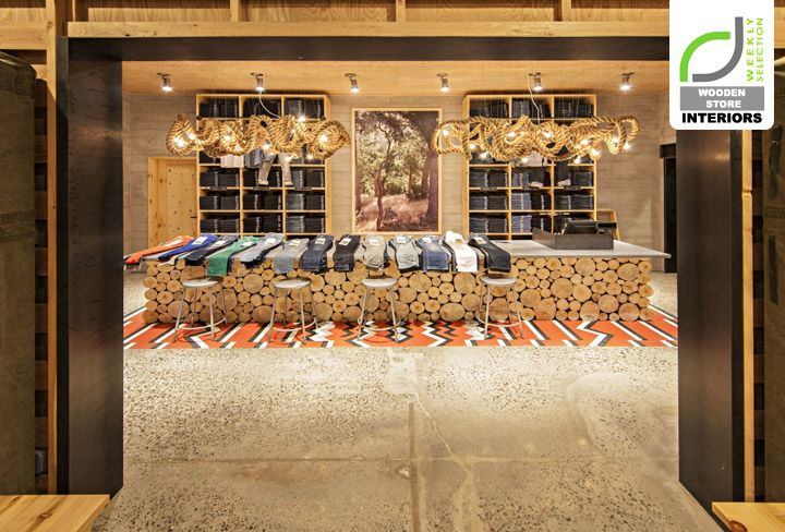 Levis store by MBH Architects New York.  Cool lights using rope.