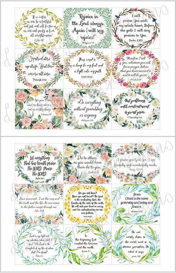 45 Printable Bible Verse Cards 3x25 Instant Etsy Inchies