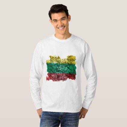 Lithuania Vintage Flag T-Shirt  $25.65  by Soulrider  - cyo customize personalize unique diy idea