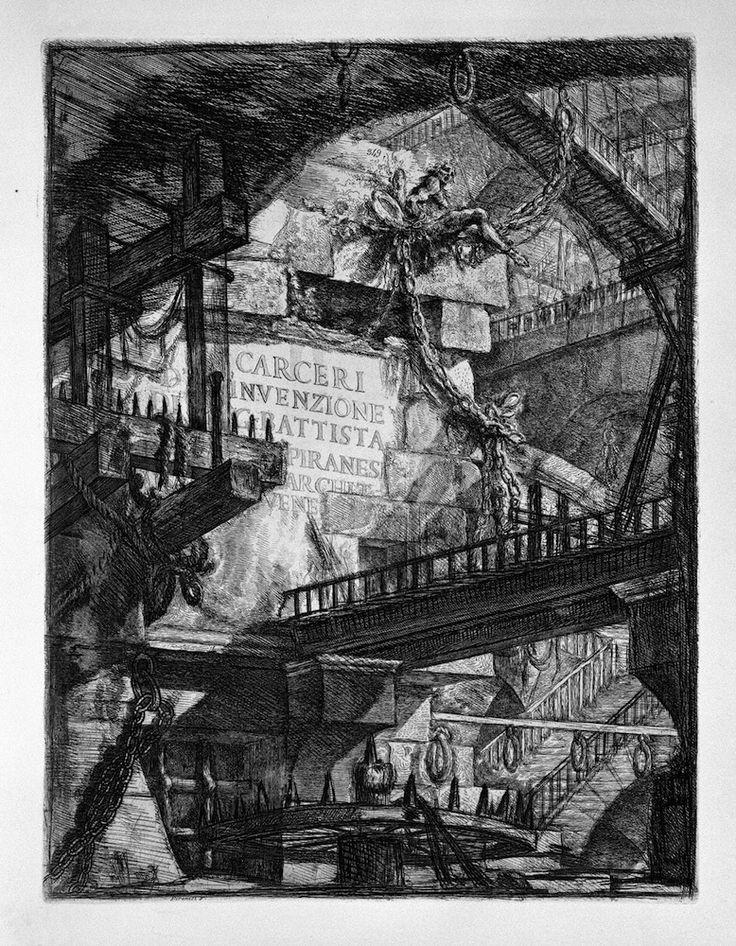 Giovanni Battista Piranesi, Frontespizio delle Carceri d'invenzione, edizione del 1761, acquaforte