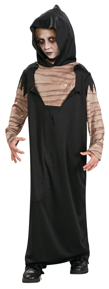 Horror Robe Costume, Includes; Hooded Robe #Halloween #Fancy #Dress #Costume #Boys #Outfit #Grim #Reaper