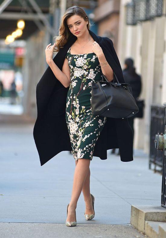 Miranda Kerr's Dolce & Gabbana floral dress.