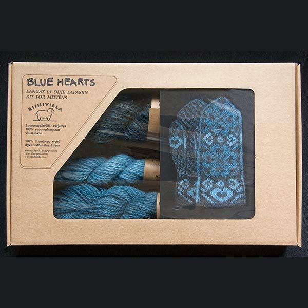 Blue Hearts Mitten Kit