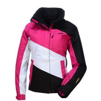 Envy, Panela, dames skijas, kort model, zwart-wit-rose