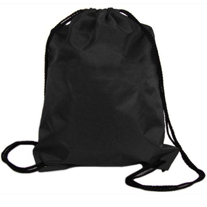 1 ШТ. Мальчики Девочки женская Новый Нейлоновый Шнурок Cinch мешок, Рюкзак Путешествия Сумки Черный #men, #hats, #watches, #belts, #fashion, #style