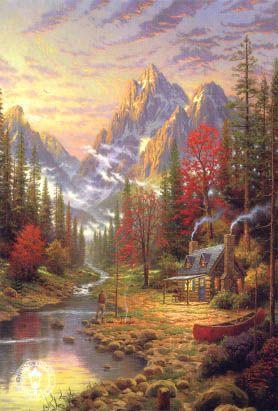 Pinturas de Thomas Kinkade!                                                                                                                                                                                 More
