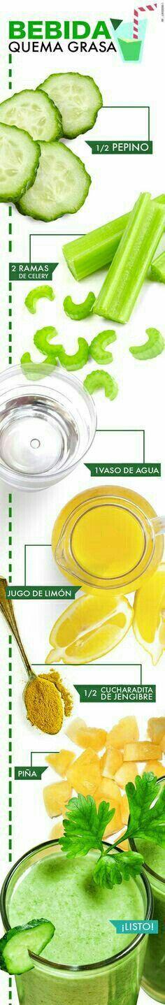 Despídete de esa grasa extra con estas deliciosas #BebidasQuemaGrasa que te ayudarán a verte y sentirte fabulosa.