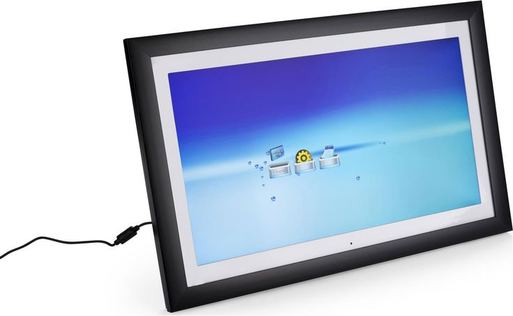"""21.5"""" Digital Photo Frame w/ Mat, Countertop or Wall Mount, For Photos, Video & Audio"""