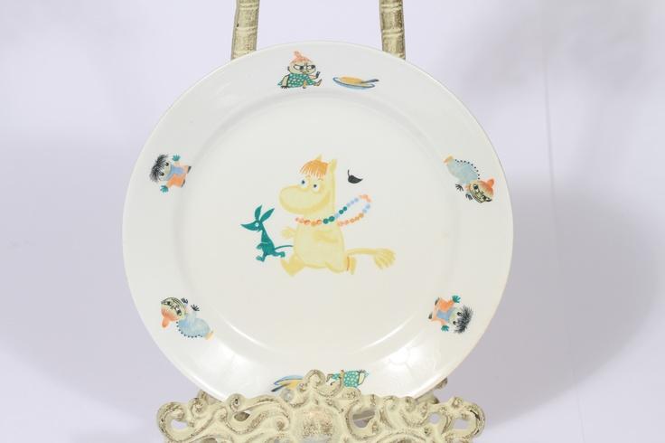 vintage arabia finland moomin plate 1950's