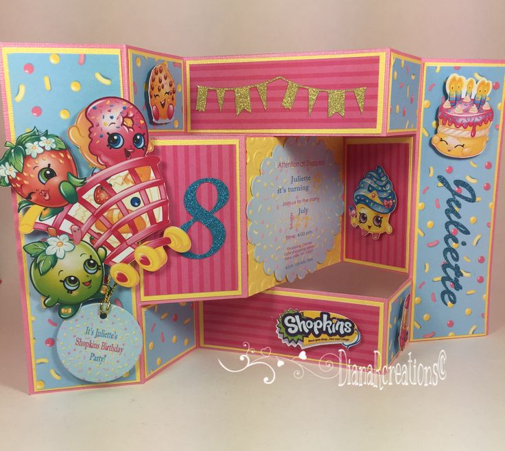 handmadest birthday party invitations%0A How cute this shopkins theme birthday invitation is