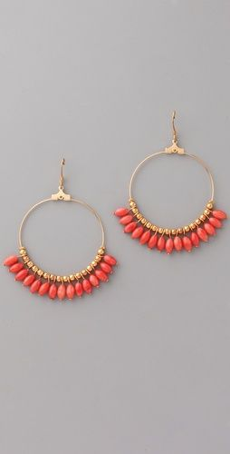 kjl beaded hoop earrings