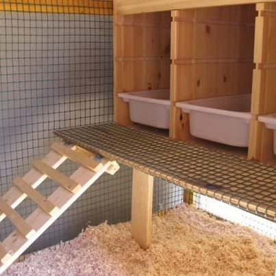 chicken coop easy clean outs
