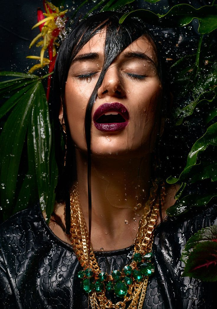 wet jungle look