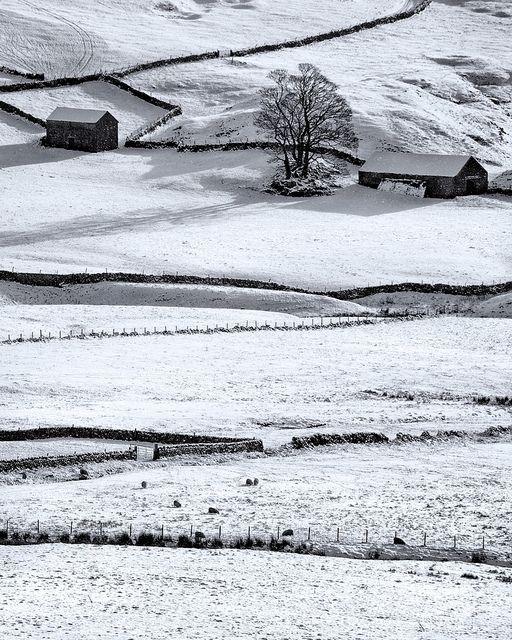 Winter Field, Peak District, Derbyshire