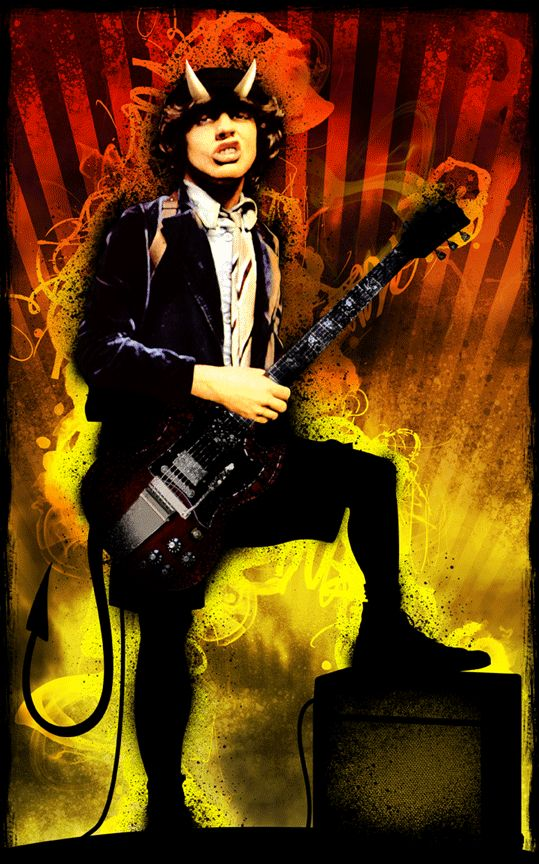 AC/DC - Angus Young - artist unknown