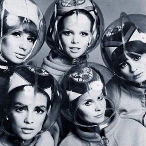 """theswinginsixties: """" Space age helmets for hair protection, 1960s. """""""