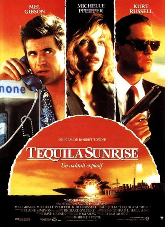 Tequila Sunrise. Beautiful people acting cool but Raul Julia steals the movie.