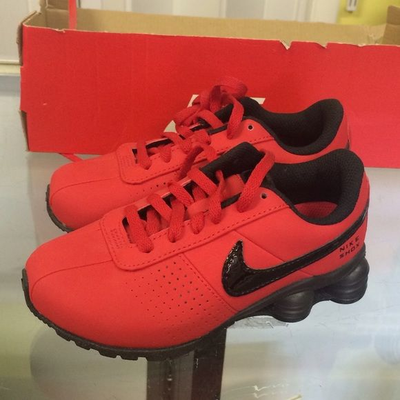 Nike Shox Red Suede