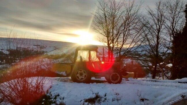 Sunrise over saddleworth