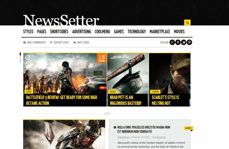 News WordPress Theme News Setter