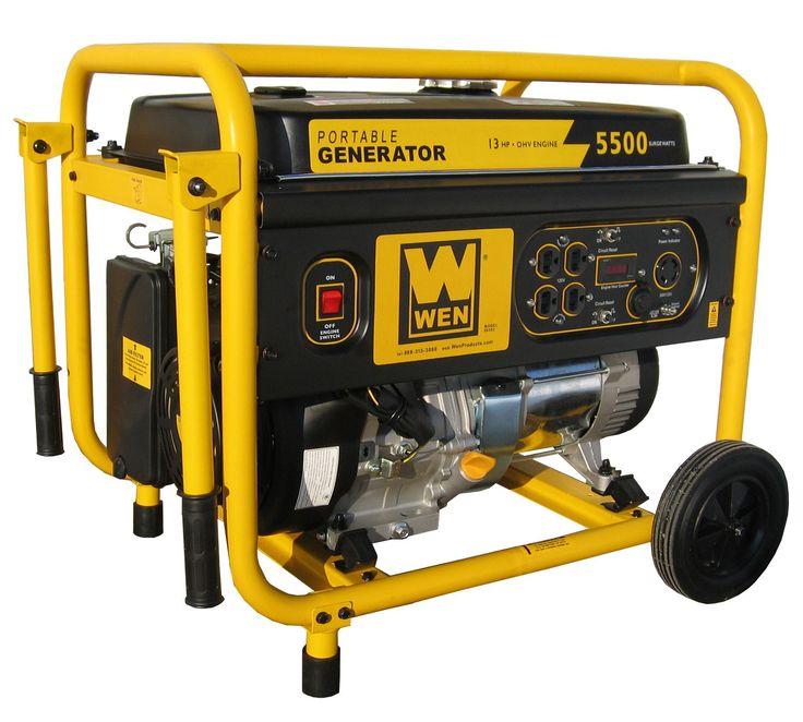 5,500 Watt Portable Generator with Wheel Kit
