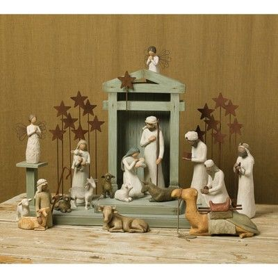I love this nativity set. My husband bought this for me in a Christmas shop in Monterey.