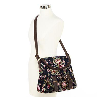 Floral Corduroy Messenger Bag - JCPenney: Secret Stuff, Messenger Bags ...