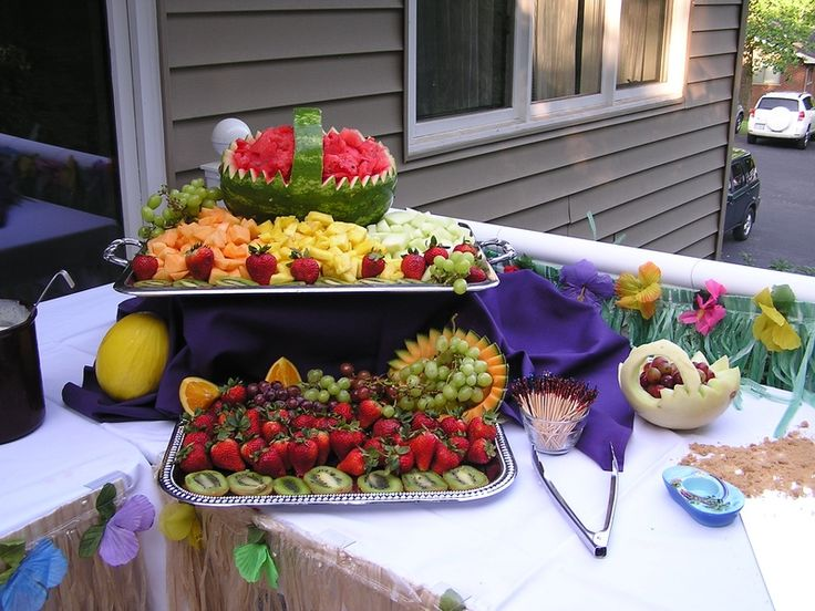 appetizer for a wedding reception | Luau Wedding Reception - Catering by Georgianna