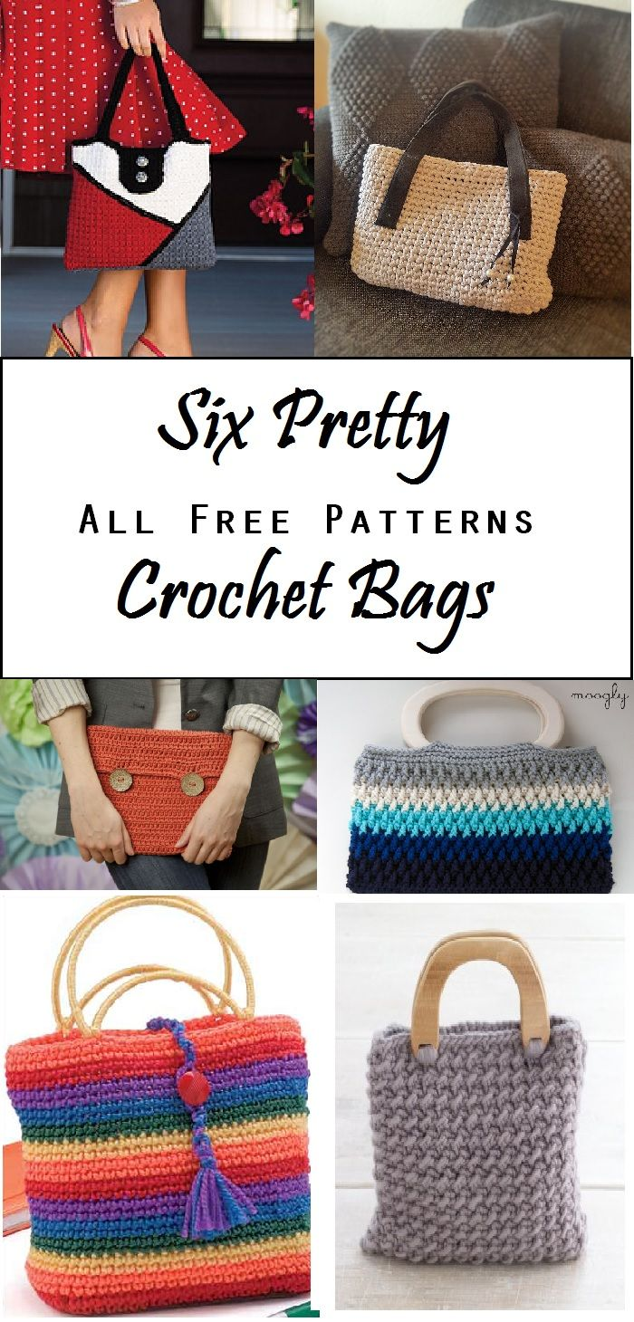 6 great crochet pattern for bags. All free!!