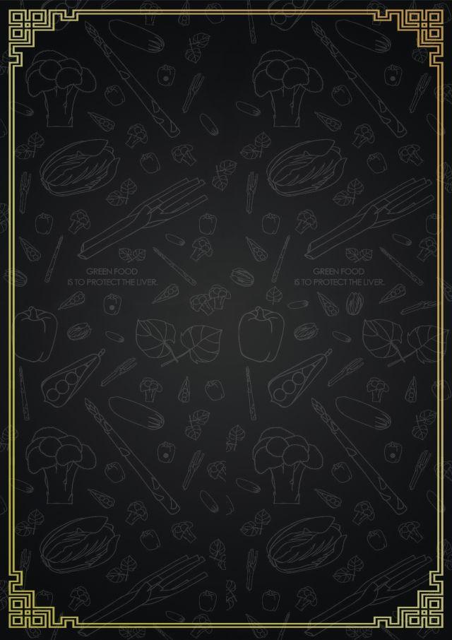 Black Hand Drawn Menu Background Picture Cartazes De Alimentos