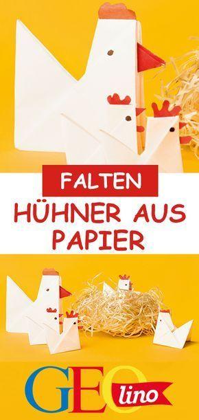 Huhn aus Papier falten